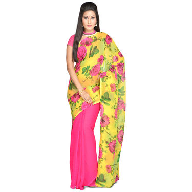 Radhika Pack of 3 Printed Georgette Sarees (7G27B)