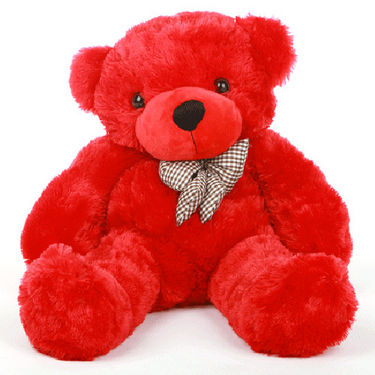 1 Feet Teddy Bear with Heart Shape Pillow - Red