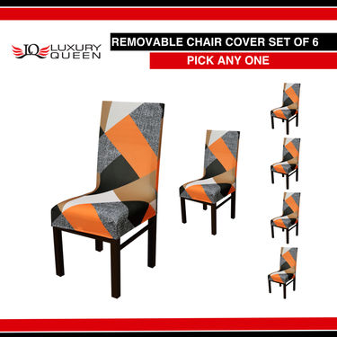 Pack of 6 Removable Chair Covers - Pick Any One