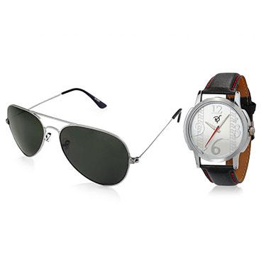 Combo of Rico Sordi Analog Wrist Watch + Sunglasses_12398214