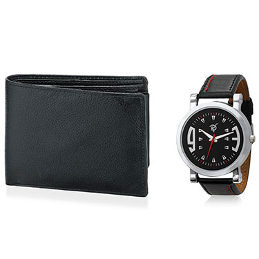 Combo of Rico Sordi Analog Wrist Watch + Wallet_12398206