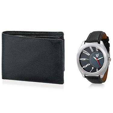 Combo of Rico Sordi Analog Wrist Watch + Wallet_12398208