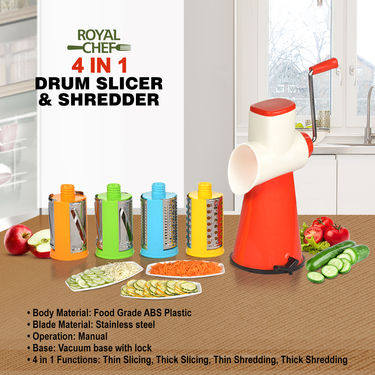 Royal Chef 4 in 1 Drum Slicer & Shredder