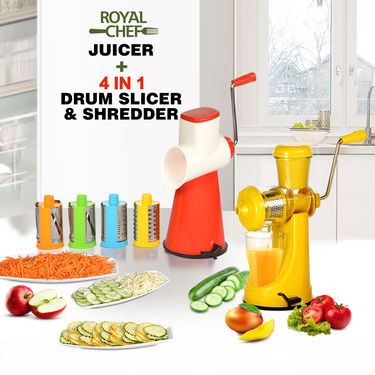 Royal Chef Juicer + 4 in 1 Drum Slicer & Shredder