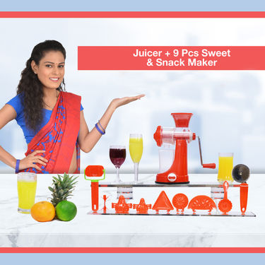 Royal Chef Juicer + 9 Pcs Sweet & Snack Maker