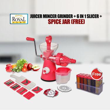 Royal Chef Juicer Mincer Grinder + 6 in 1 Slicer + Free Spice Jar