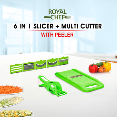 6 in 1 Slicer +  Multi Cutter with Peeler