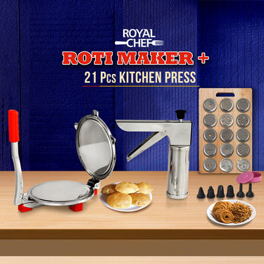 Royal Chef Roti Maker + 21 Pcs Kitchen Press