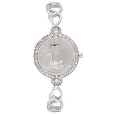 Adine Analog Round Dial Wrist Watch For Women_Rsw11 - White