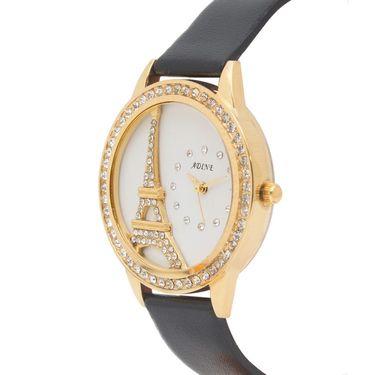 Adine Analog Round Dial Wrist Watch For Women_Rsw17 - White