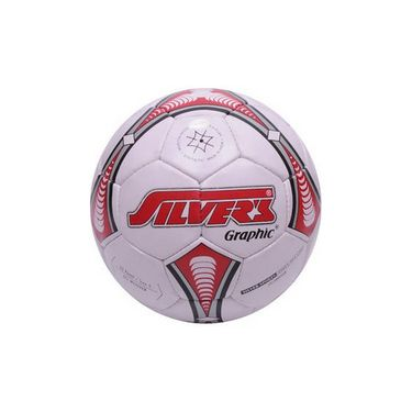Silver's (Size-5) Graphic Silfbgraphic Football - White