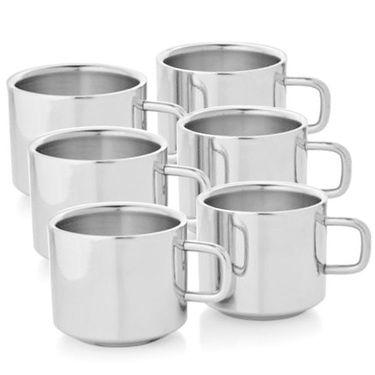 AoitoElegant Stainless Steel Tea Cup Set of 6_SQ-AO-6