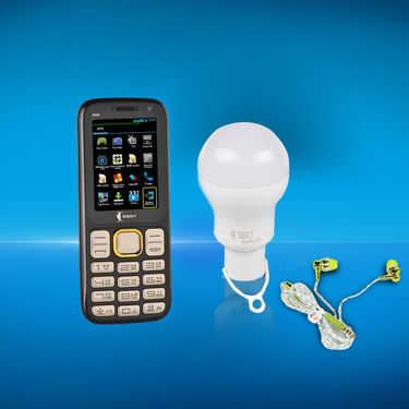 SSKY Powerbank Mobile with LED Bulb