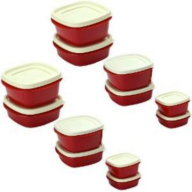 Cutting Edge Snap Tight Air Tight Storage Container Combo Set Of 12 Red
