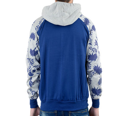 Blended Cotton Full Sleeves Sweatshirt_Swdl1 - Blue & Grey