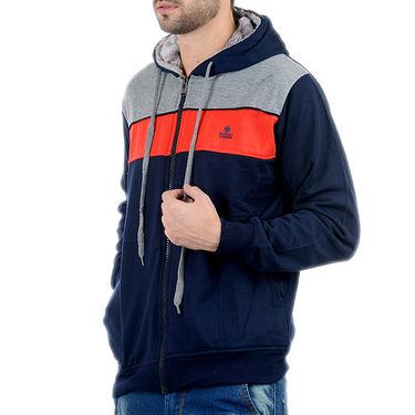 Blended Cotton Full Sleeves Sweatshirt_Swdl2 - Denim Blue & Grey