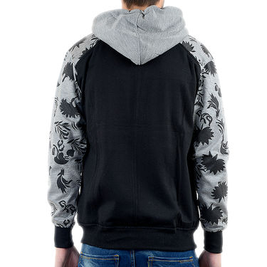 Blended Cotton Full Sleeves Sweatshirt_Swdl7 - Black & Grey
