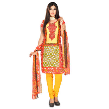 Safina Set of 7 Mughal Inspired Printed Dress Material by Pakhi (7PDM6)