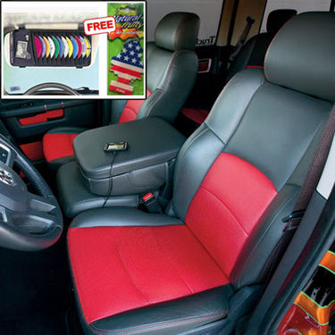 Samsun Car Seat Cover for Mahindra Xylo - Red & Black