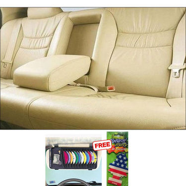 Samsun Car Seat Cover for Maruti Suzuki Zen Estilo - Beige