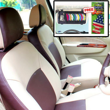 Samsun Car Seat Cover for Maruti Suzuki Omni  - Beige & Brown
