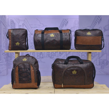 Set of 5 Leatherite Travel Bags