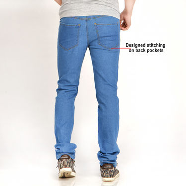 Set of 2 Denims for Men from Mr. Tusker - Medium Blue & Dark Blue