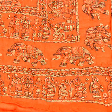 Set of 2 Jaipuri Cotton Razai with Gold Prints - Pink or Orange or Lavender