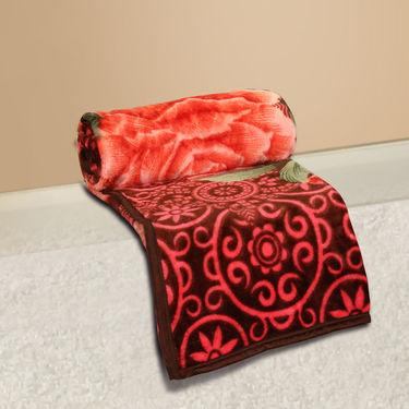 Set of 2 Mink Blankets - Maroon