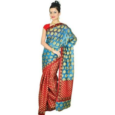 Aadarshini Set of 3 Benarasi Sarees with Brocade Border (3BNS1)