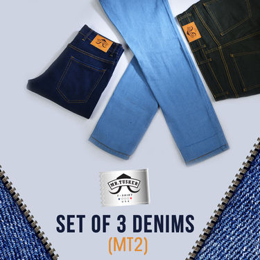 Mr. Tusker Set of 3 Denims (MT2)