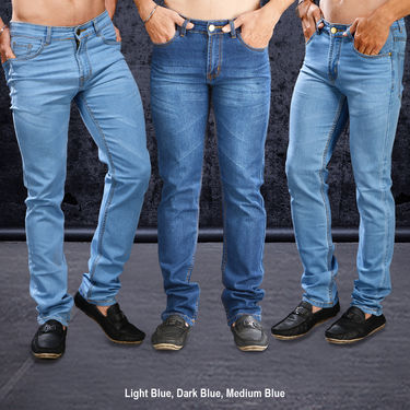 Set of 3 Fashion Denims for Men by Mr. Tusker_Upsell