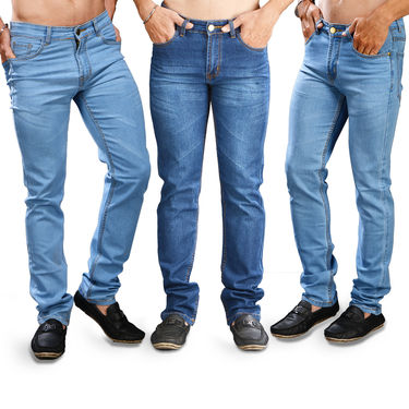 Set of 3 Fashion Denims for Men by Mr. Tusker