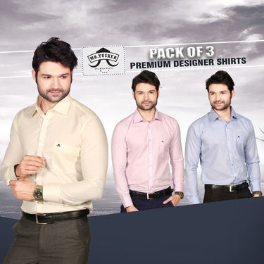 Set of 3 Formal Shirt - Summer Collection