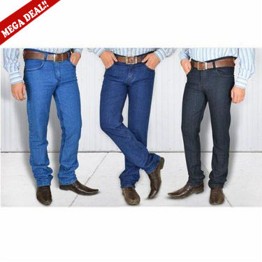 Set of 3 Branded Staightfit Jeans