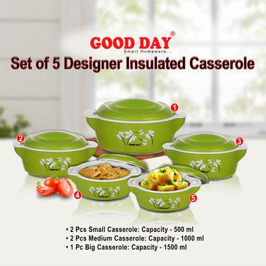Set of 5 Designer Insulated Casserole