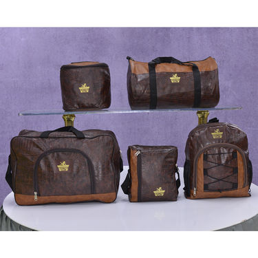 Set of 5 Leatherite Travel Bags (LB2)