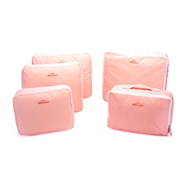 Set of 5 Mangalam Luggage Organizer - Pink