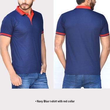 Set of 5 Polo Neck T-shirts for Men by Mr. Tusker