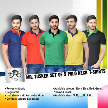 5 Premium Polo Neck T-shirts