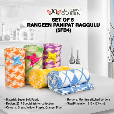 Set of 5 Rangeen Panipat Raggulu (5FB4)