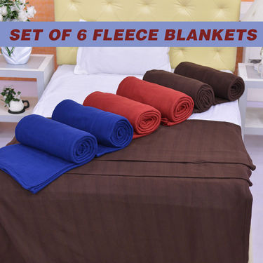 Set of 6 Fleece Blankets (6FB1)