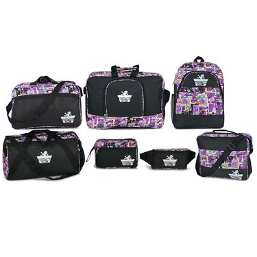 Scottish Club Set of 7 Bags - Pink & Purple