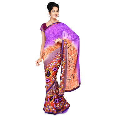 Set of 7 Georgette Sarees with Lace by Pakhi (7G13)
