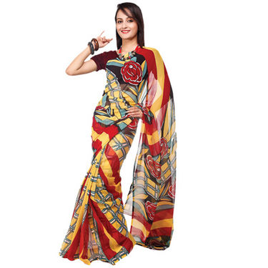 Set of 9 Navya Georgette Sarees (9G456) - AKSO