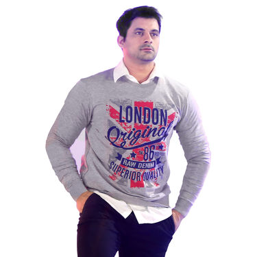 American Indigo Set of Two Printed Sweatshirts for Men