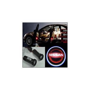 Set of 2 pcs Branded Car Door Welcome Light LED Projection Ghost Shadow Light Laser Nissan Logo
