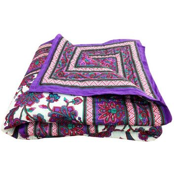 Multicolor Reversible Designer Printed Print Cotton Double Bed AC Quilt-SRL2175