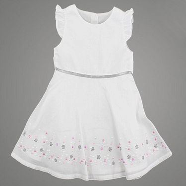 Shoppertree Pure Flower Dress - White