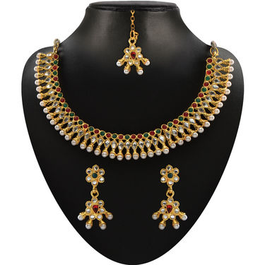 Shubhalaxmi 1 Gram Gold Plated 13 Jewellery Set